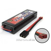 Аккумулятор Li-Po 7.4V (2S)/3300mAh/25C (разъем TPlug) + переходник fTPlug-mTRX фото