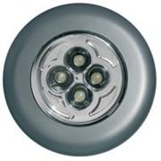 СТАРТ ночник PL-4LED-silv (3xR03 не в компл.) пластик, пушлайт, серебро d=70, BL1 фото