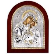Икона Божией матери Гликофилусса (Сладкое лобзание) Silver Axion 85 х 100 мм фото