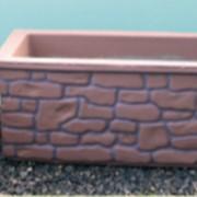 Цветочница из бетона Под камень фото