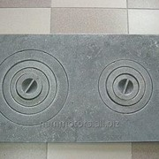 Чугунная плита печная двухконфорочная (410мм*710мм) 20 кг фото