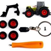 Трактор Claas Atles 936 RZ с дополнительными принадлежностями брелок 1/128 00431 фото