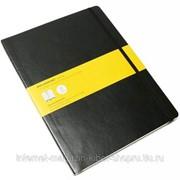 Блокнот Moleskine Classic Soft XL, 192 стр., черный, в клетку фото