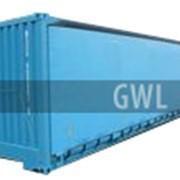 Контейнер 40 футов с боковыми раскрытиями, контейнер 40футов с боковыми дверьми фото