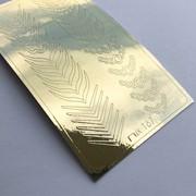 Металлизированные наклейки №167 серебро ххх фото