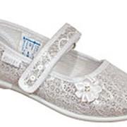 531016-71 серебряный туфли ясельно-малодетские текстиль Р-р 30 фото