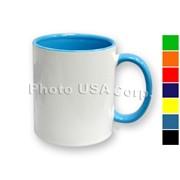 Кружка двухцветная (ручка и внутри), для сублимации, объем 310 мл фото
