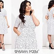 Летнее платье женское из штапеля (4 цвета) ТС/-301 - Белый фото