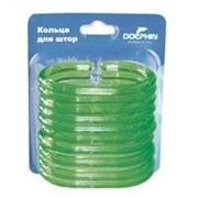 Набор колец для штор (зеленый) фото