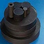 Фторопласт диск черный коксонаполненный Ф4К20, s:190, L:100мм фото