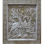 Резная икона - Св. Георгий Победоносец фото