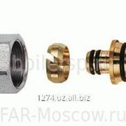 Концовка для металлопластиковых труб 16х2,25 с хромированной накидной гайкой М24х19, артикул FC 6055 58200 фото