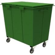 Контейнер мусорный с крышкой для ТБО 0,75 м3 фото