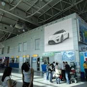 Реклама в аэропорту г. Алматы фото