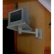 Подставка подвесная под ТВ: ПТВ-01.01, светло-серая, металлическая, нагрузка до 25 кг. фото