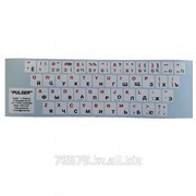 Наклейки на клавиатуру KAZ/RUS/ENG, белая основа фото