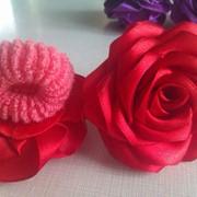 Резинки розы канзаши пара красные фото