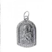 Нательная икона Владимирская икона Божией Матери фото