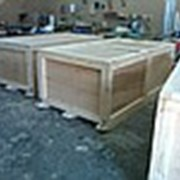 Деревянная коробка, фанерная упаковка фото