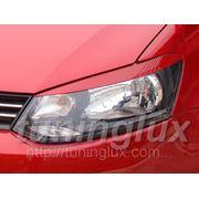 Тюнинг Volkswagen Polo, накладки на фары (реснички) R-Line, КРАШЕНЫЕ фото