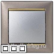 Legrand Valena Рамка 3-я (титан/золото) фото