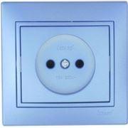 Розетка 1-я б/з керамика металлик синий (Mira) Lezard фото