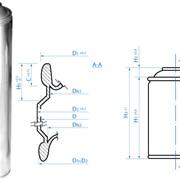Аэрозольный баллон для химической продукции. Диаметр 52 мм, 65 мм. фото