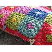 Вязание пледов, покрывал, наволочек для подушек фото