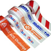 Фирменная оградительная лента с логотипом фото