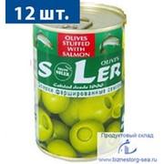"""Оливки """"SLER"""" с сёмгой фото"""