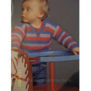 Полосатый пуловер фото
