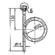 Трубка демпферная с кольцом накидной ниппель G 1/2 цинк. фото