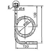 Трубка демпферная угловая внутреннее кольцо накидной ниппель G 1/2 цинк. фото