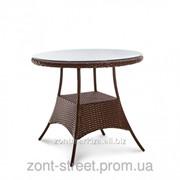 Стол обеденный Барселона O900 из искусственного ротанга, код товара 71 фото
