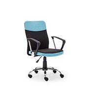 Кресло компьютерное Halmar TOPIC (черный/голубой) фото