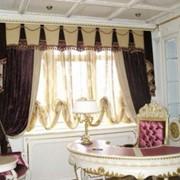 Пошив штор, комплект тюль + портьера (карниз до 3 м) фото