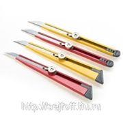 Нож канцелярский Office Force,металл,блок,лезвие 9 мм,крас. фото