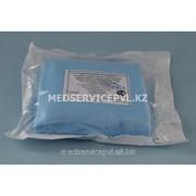 Простыня на операционный стол 200х140, пл. 42, голубая,стерильная фото