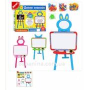 Мольберт Limo Toy 0703 (рус., укр., англ. алфавит) Красный/Синий (64207) фото