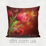 Подушка декоративная с принтом Цветы маслом фото