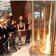 Интерактивный экспонат - огненное торнадо фото