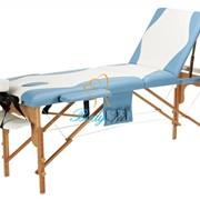 Деревянный 3-х сегментный стол для массажа 2 цвета фото