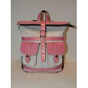 Рюкзак из натуральной кожи «Яблони в цвету» фото