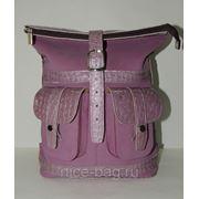 Сумка-рюкзак из натуральной замши «Сирень» фото