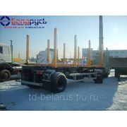 прицеп сортиментовоз двухосный МАЗ-837810-020 грузоподъемностью 16 тонн фото