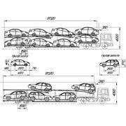 Полуприцеп — автовоз под 5 ДЖИПОВ или 8 легковых автомобилей КЗС 949810 фото