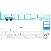 Автовоз 8 легковых автомобилей КЗС 949810 (А-908) фото