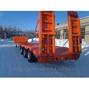 Полуприцеп трал (тяжеловоз) низкорамный до 38 тонн КЗС 949730 ЦП: ПН 3010 9 м фото