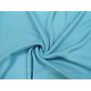 Ткань Трикотаж вязаный голубой фото