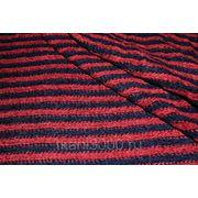Трикотаж набивной красно-синяя полоска фото